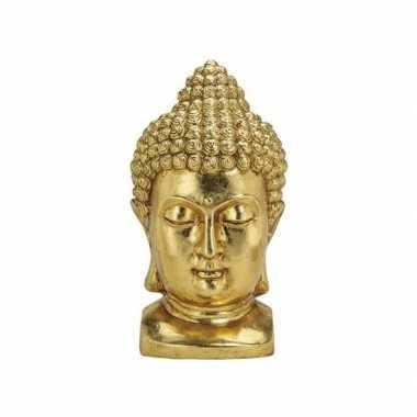 Beeld boeddha hoofd goud 47 cm
