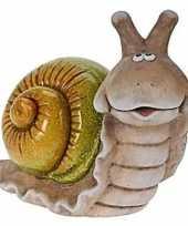 Slakken tuinbeeldje van 35 cm
